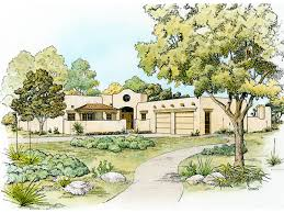 santa fe house plan front of home 095d 0044 house planore