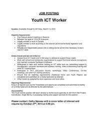 Youth Worker Cover Letter 11 Day Care Nardellidesign Inside Cover