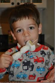 Image result for boy eating powdered donuts