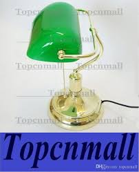 vintage bank table lamps retro brass bankers lamp green glass lampshade office study room table lamps desk lamp 119 2018 from topcnmall 82 42 dhgate