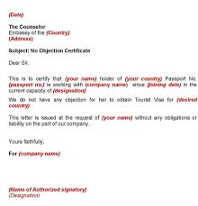 No Objection Letter Sample For Job Spacedesignagency Co