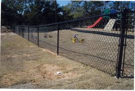 black painting chain link fence