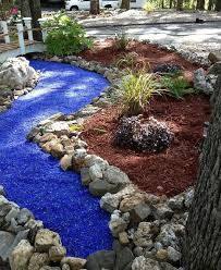 amazing glass mulch garden decorations landscape