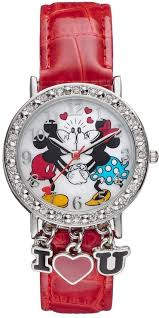 <b>Disney Disney's</b> Kissing Mickey & <b>Minnie Mouse</b> Women's Crystal ...
