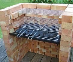 brick bbq kit warming grill