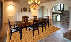 rug dining room what size rug to use for your dining room best images