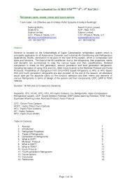 Pdf Refrigerant Types Issues Trends And Future Options