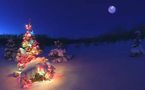 christmas snow wallpaper hd. Plain Wallpaper Christmastreelightssnowwallpaperhd Inside Christmas Snow Wallpaper Hd