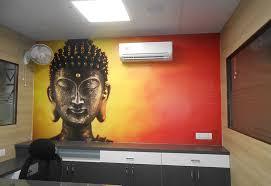 Office wallpaper design Orange Buddha Statue Agra Elegant Décor Office Wallpaper Kids Designer Wallpaper For House Office Wall Decor Ideas