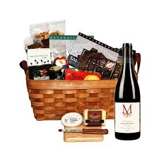 montinore estate cascades of oregon bounty red wine gift basket
