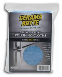 Cerama Bryte Microfiber Cleaning Cloths, 2 Count