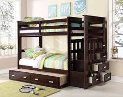 bunk bed with trundle and stairs. Simple Bunk And Bunk Bed With Trundle Stairs O