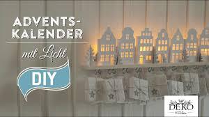 Diy Adventskalender Basteln Mit Beleuchteten Häuschen How To Deko Kitchen