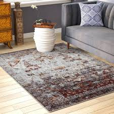 red gray area rug and grey blue world menagerie