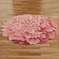 fl area rugs garden touch of class deena blooms flower shaped round bright woven rug circular red black mohawk cool wonderful large size western dining