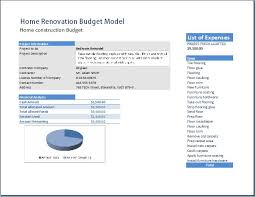 Home Renovation Spreadsheet For Costs Home Renovation Model Template Word Excel Templates