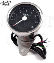 chrome tachometer for all dual fire ignitions motorcycle tach universal motorcycle tachometer main image