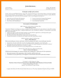 8 Finance Internship Resume Self Introduce
