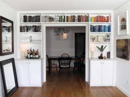 ... Mesmerizing White Built In Bookcases White Built In Cabinets White Wall  Bookshelves Cabinets ...