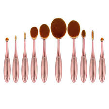 full makeup brush set. ammiy 10-piece oval makeup brush set full