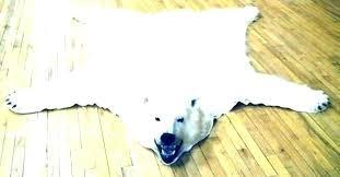 sk rel blck white bear rug faux skin
