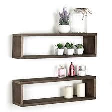 Dark Brown Floating Shelves Mesmerizing Amazon Dark Brown Wood Finish Wall Mounted 32Inch Floating