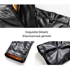 hengming fashion leather pants vintage pants men faux leather straight pants zipper fly golden fleece warm
