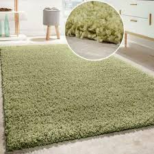 olive green gy rug cuddly living area mat deep thick pile bedroom carpet