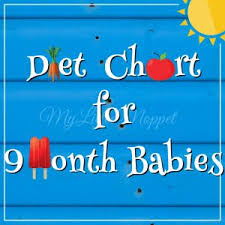 Baby Food Chart 9 Months Old Baby Food Food Chart Meal Plan For 9 Month Old Baby Baby