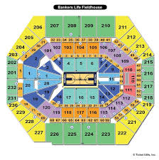 Indiana Basketball Seating Chart Bankers Life Fieldhouse Indianapolis In Seating Chart View