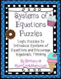free system of equations activity
