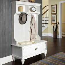 white furniture ideas. White Wooden Hall Tree Storage Bench With Hutch And Hooks For Pretty Home Furniture Ideas Coat Hanger Plans Rack Antique Sale Entry Appealing Long Entryway