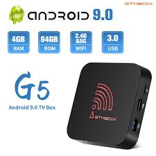 Android 9.0 4G 64G TV BOX GTMEDIA G5 4K Youtube Google Assistant TV  receiver Wifi Bluetooth TV Box Play Store Set top Box Set-top Boxes