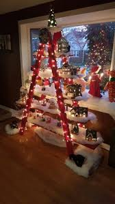 Christmas Tree Village Display Stands 100 Unique Ladder Tree Stands Ideas On Pinterest Ladder Display 20