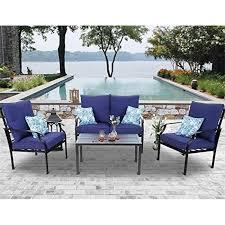 phi villa 4 piece patio sets outdoor
