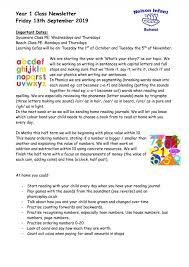 Class Newsletter Newsletters Nelson Infant School