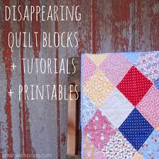Disappearing 4 Patch Quilt Block Tutorial - & free disappearing quilt patterns. Have you used this method before? What  did you find was the most successful? Adamdwight.com