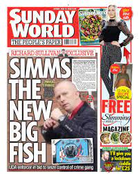 David burke, who instigated the 2014 killing of tragic dale on a footbridge in tallaght, dublin has been released from prison bank of ireland's advice around latest 'smishing. Northern Ireland Sunday World Tomorrow S Front Page Simms The New Big Fish Uda Enforcer In Bid To Seize Control Of Crime Gang Facebook