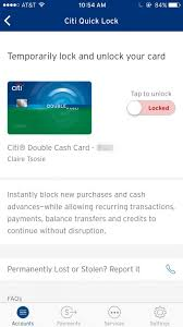 log on to your citi account via citi s mobile app