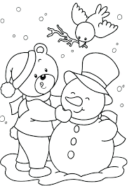 Free Winter Coloring Pages For Preschoolers Preschool Coloring Pages