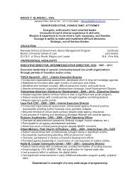 Resume Template For Executive Director Non Profit Best Sample