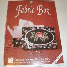 Designs For The Needle Inc Designs For The Needle Fabric Boxes Rose Black Cross Stitch Kit 6501
