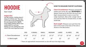 Dog Hoodie Sizing Chart Google Search Hound And House