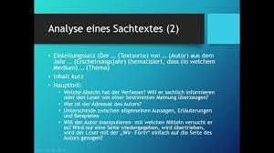 Deutsch Thema Sachtexte Analysieren Youtube