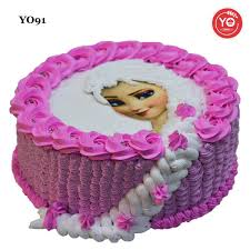 Order Frozen Elsa Pink Theme Cake Online Same Day Delivery In