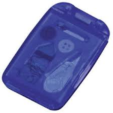 """Набор швейный """"Иголка"""" с зеркалом, синий с логотипом ..."""
