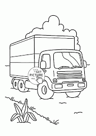 Small Picture Camion on the Road coloring page for kids transportation coloring