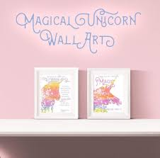 >magical unicorn free printable wall art printable wall art  magical unicorn free printable wall art