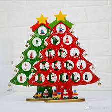 diy cartoon wooden christmas tree decoration christmas gift ornament table desk decoration red white green christmas tree decoration diy wooden christmas