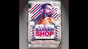 barber flyer barber shop premium flyer psd template youtube